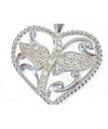Diamond Heart Pendant 35 Diamonds  natural untreated 1/2 carat large - $93.93