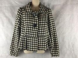 Forever 21 Black/White Houndstooth Peplum Blazer Jacket Lined Wool Blend... - $13.33