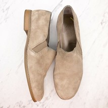 Franco Sarto Pardon Tan Suede Slip On Loafers Shoes Size 9 - $27.91
