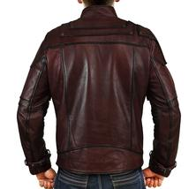 Guardians Galaxy Vol 2 Star Lord Chris Biker Peter Quill Maroon Leather Jacket image 4