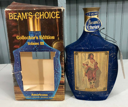 Jim Beams Choice Whiskey Collectible Decanter Indian Maiden Empty - $17.07