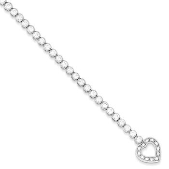 Primary image for Lex & Lu Sterling Silver CZ Tennis Bracelet 7.5""