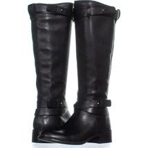 Franco Sarto Canary Knee Hgh Zip Up Boots 596, Black, 5 US / 35 EU - $54.71