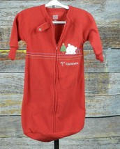 Carters Baby Bunting Size OS Christmas Bear Child of Mine Red - $8.79