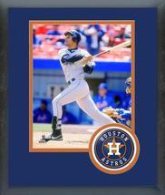 Moises Alou Houston Astros Circa 1998 Action-11x14 Team Logo Matted/Fram... - $43.55