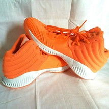 adidas SM Mad Bounce Mens 12.5 D97371 Basketball Shoes Orange & White 2018 image 2