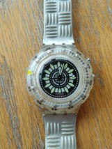 "Swatch Scuba style ""Walk on"" unisex oversized damaged strap watch - $22.22"