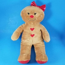 Build A Bear Gingerbread Girl Plush Christmas Doll Red Bow Limited Editi... - $19.99