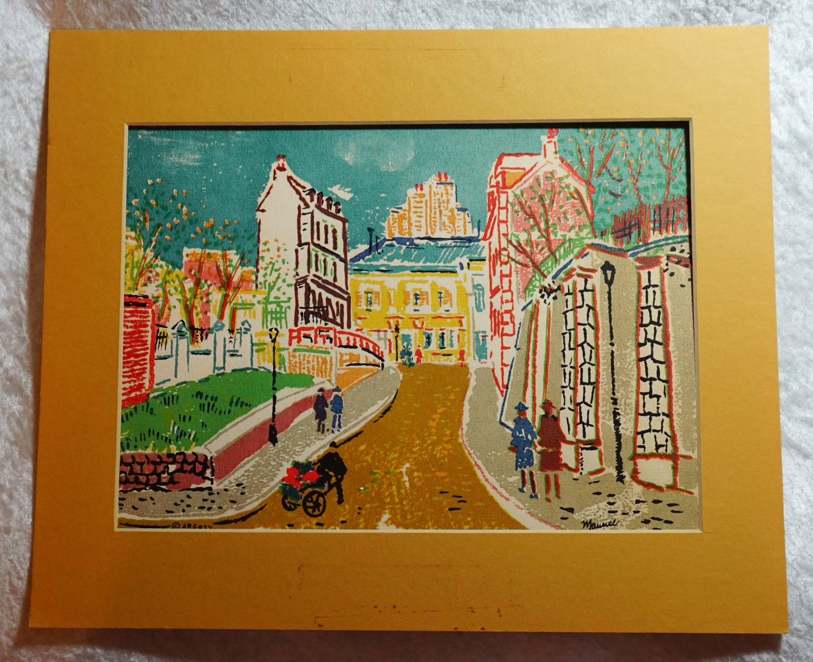 Primary image for 1950s Bernard Goldsmith,Cityscape Color, Original Lithograph by Maurice