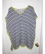 OLD NAVY Boho Tunic Top Shirt Sz S Women's Blue White Green Sleeveless  - $19.79