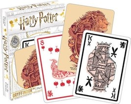 Harry Potter Gryffindor House Themed Illustrated Poker Size Playing Card... - $5.94