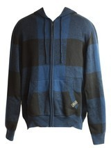Men's Zip Front Sweater Hoodie by Rocawear Blak (Blue & Black) NWOT - $19.99