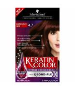 Schwarzkopf Keratin Color Permanent Hair Color Cream, 4.7 Bordeaux Red - $15.23