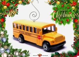 CHRISTMAS TREE ORNAMENT (BLUE BIRD) YELLOW SCHOOL BUS GM CUSTOM LIMITED ... - $28.98