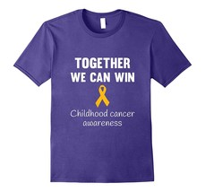 Childhood cancer awareness Gold ribbon T Shirt adults & kids Men - $17.95+