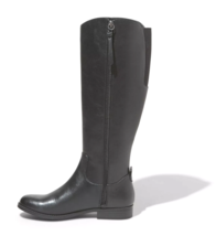 Universal Thread Women's Brisa Tall Black Faux Leather Zippered Riding Boots NWT image 2