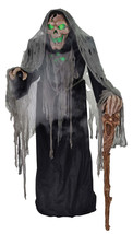 Animated Life Size PESTILENCE SMOLDERING REAPER Halloween Prop SEE VIDEO - €248,35 EUR