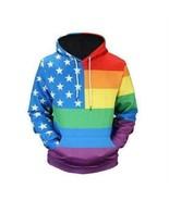 Eissely Men's American Flag 3D Print Hoodie Sweatshirt Tops Jacket Coat ... - $33.07