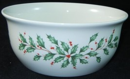 "LENOX Holiday Dimension 7 5/8"" Round Vegetable Serving Bowl Christmas   ... - $29.99"