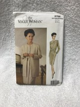 The Vogue Woman 8756 Misses Miss Petite Jacket Dress Sewing Pattern - $10.88