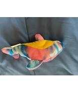 "2009 Rinco Small 7"" Dolphin Plush Blue/Pink/Yellow/Purple *NEW* gg1 - $7.99"