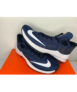 NEW SIZE 11.5 MEN Nike Air Max Infuriate 2 MID NAVY WHITE BASKETBALL SHOES  - $39.59