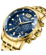 MEGIR 2068G Men Watch Luminous Display Chronograph Business Quartz Watch... - $43.60