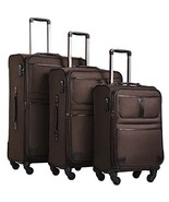 3Pcs Expandable Spinner Suitcase Lightweight TSA Lock Trolley Luggage Se... - $204.67