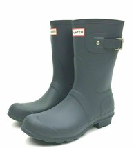 Hunter Womens Original Short Boots - Dark Slate New! - $99.99