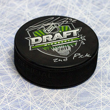 Gabriel Landeskog 2011 NHL Draft Puck Autographed with 2nd Pick Inscription - $180.00