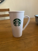 2012 Starbucks white green mermaid 16 oz tall coffee tea cup mug - $9.17