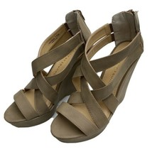 Chinese Laundry Z Motivation Taupe Wedge Heel Sandal Heels Size 7.5 - $29.69