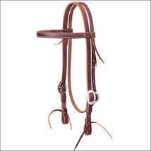 """3/4"""" WEAVER WORKING ECONOMY BROWBAND HORSE LEATHER HEADSTALL STAINLESS S... - $59.95"""