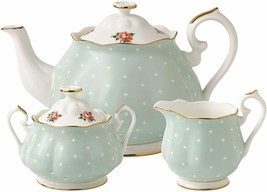 Royal Albert Polka Rose Vintage 3 Piece Set  # POLROS25823 New - $243.19