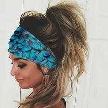 US Women Wide Elastic Turban Head Wraps HeadBand Boho Sports Yoga Hair Band - £7.19 GBP