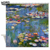 Warm Tour Water Lilies By Claude Monet Fabric Shower Curtain Polyester W... - $42.97