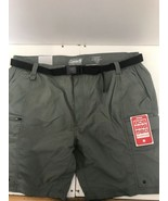 NWT Colemans Mens Belted Utility Shorts-Color-Ironstone-Size-XXL-MSRP - $10.99