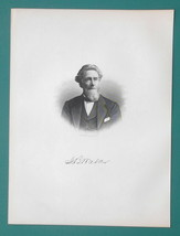 LEVI WALKER Michigan Justice of Peace & House Representative- 1878 Antiq... - $19.80