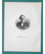 LEVI WALKER Michigan Justice of Peace & House Representative- 1878 Antiq... - $19.80