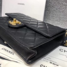 BNIB BRAND NEW AUTH CHANEL 19SS PEARL BLACK LAMBSKIN QUILTED FLAP BAG RECEIPT  image 5