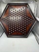 Mahogany Wood Bombay Company Chinese Checkers Wood - Board Only - $58.41