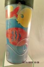 STARBUCKS THERMO SERV Travel Mug Tumbler 1998 Fish Print Wave design 16oz - $10.39