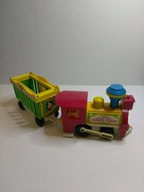 Vintage Little People Fisher Price Circus Train 991 Engine and Animal Cage Cart - $21.99