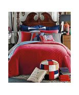 Tommy Hilfiger Prep Quilted Top Solid Red Duvet... - $114.00