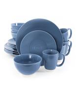 Gibson Rowland 16 Piece Stoneware Round Dinnerware Set in Blue - $87.22