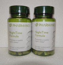 Two pack: Nu Skin Nuskin Pharmanex NightTime Night Time Formula 60 Capsules x2 - $50.00