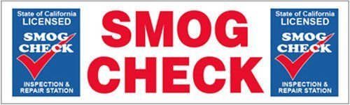 "GHP 3'x10' 13 oz. Vinyl ""SMOG CHECK"" Metal Grommets Business Banner Sign"