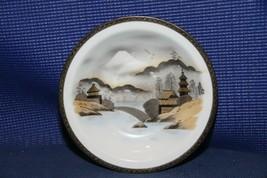 "Vintage hand painted KUTANI China MT FUJI JAPAN 7-3/4"" bowl soup bowl - $12.64"