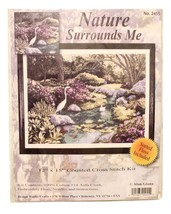 Design Works Nature Surrounds Me Cross Stitch Kit 2455 Woods Stream Birds Flower - $19.69