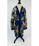 Willow & Clay Nordstrom Women's size Small/Medium Blue Floral Kimono Robe - $56.42